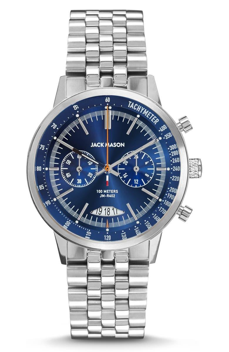 Jack Mason Racing Chronograph Bracelet Watch 40mm