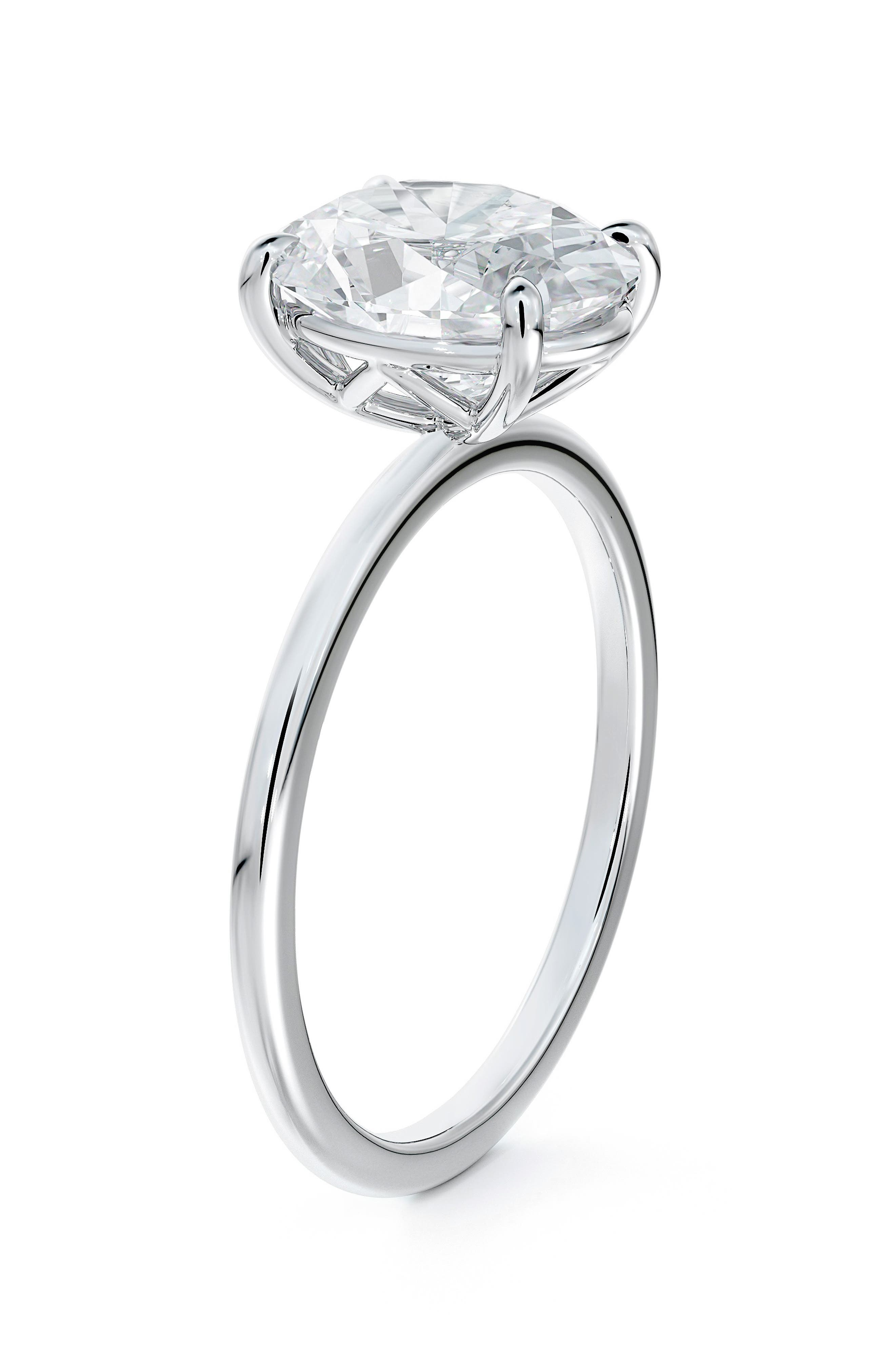Delicate Icon(TM) Setting Oval Diamond Engagement Ring
