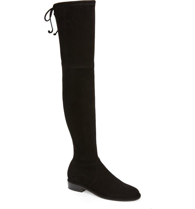 STUART WEITZMAN 'Lowland' Over the Knee Boot, Main, color, BLACK