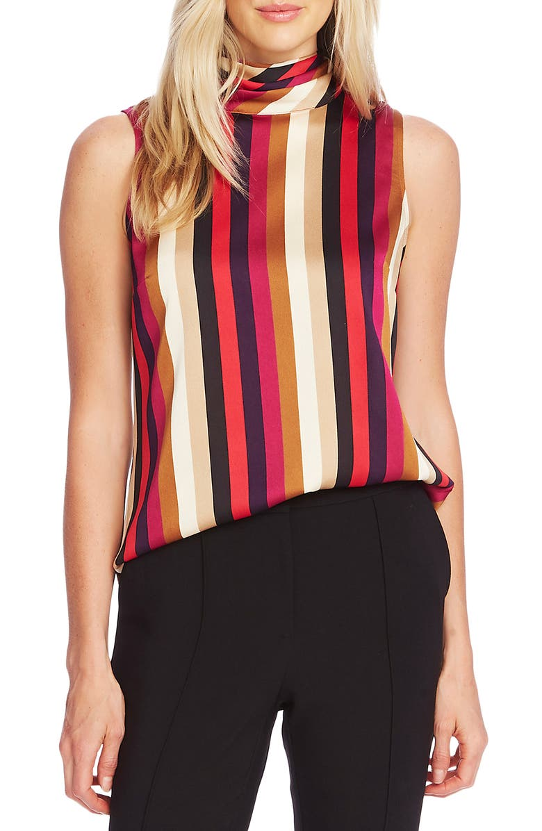 VINCE CAMUTO Mayfair Stripe Sleeveless Top, Main, color, 607