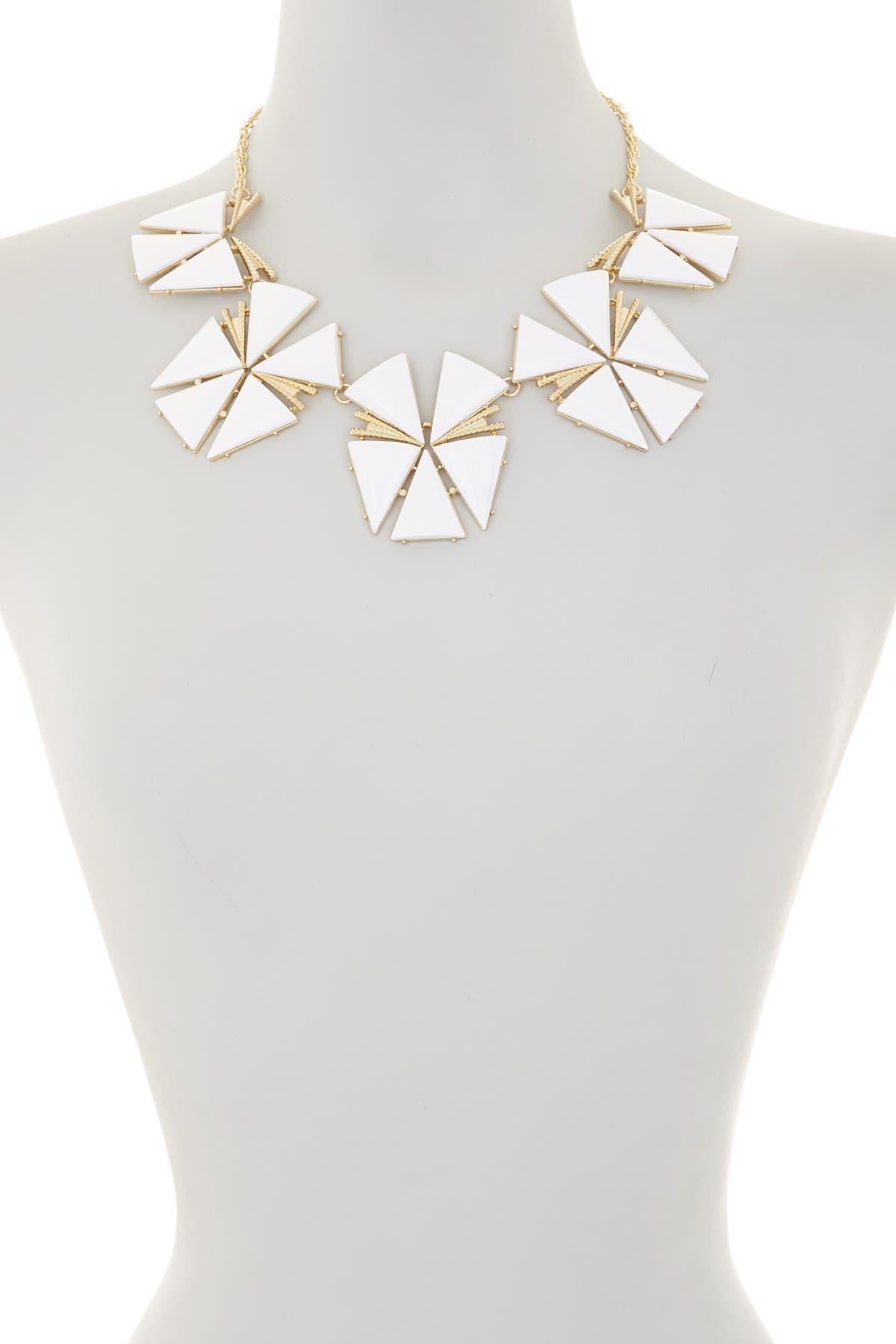 Image of Trina Turk Geo Flower Statement Necklace