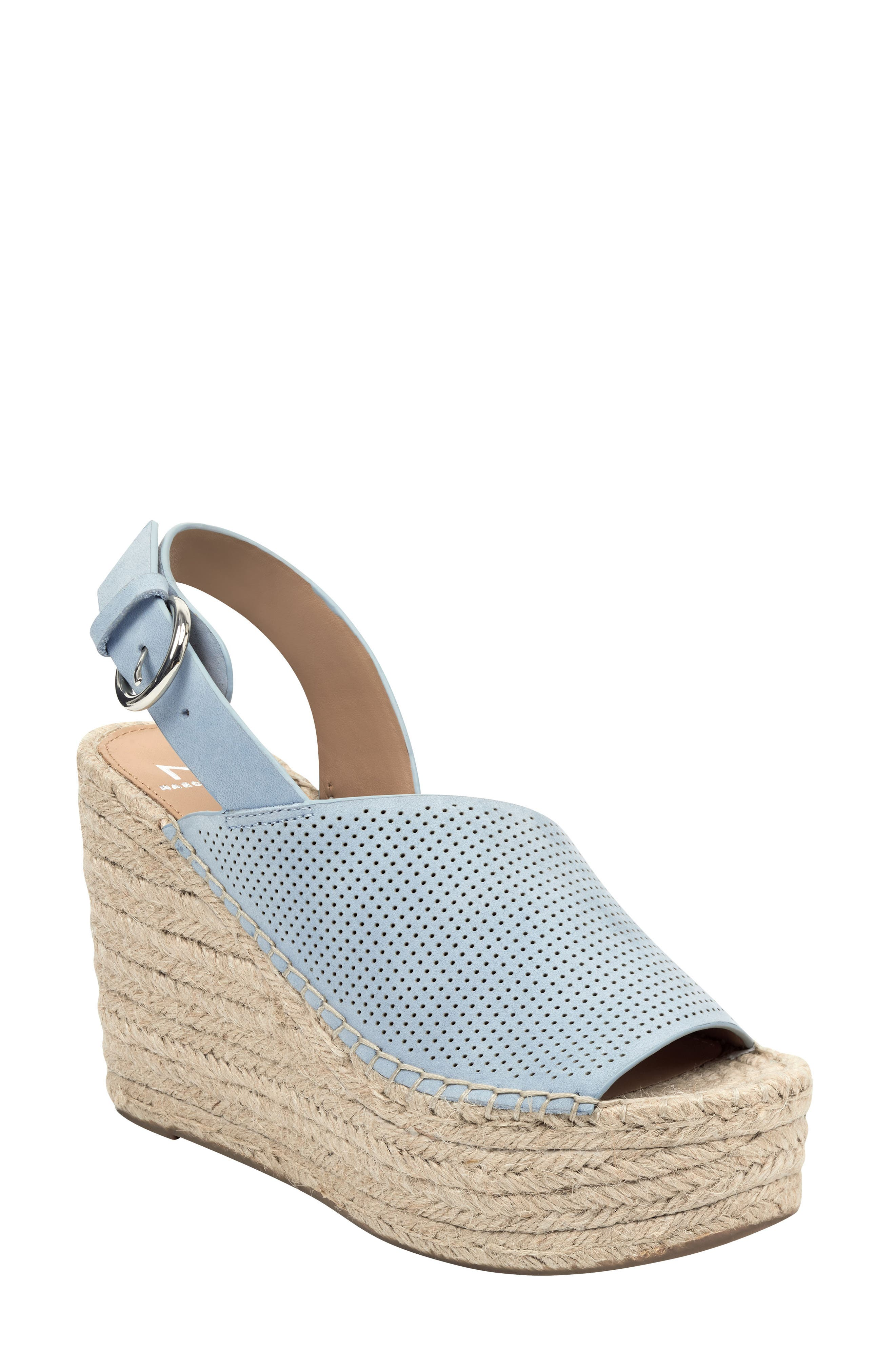 Andela Slingback Espadrille Wedge, Main, color, LIGHT BLUE NUBUCK