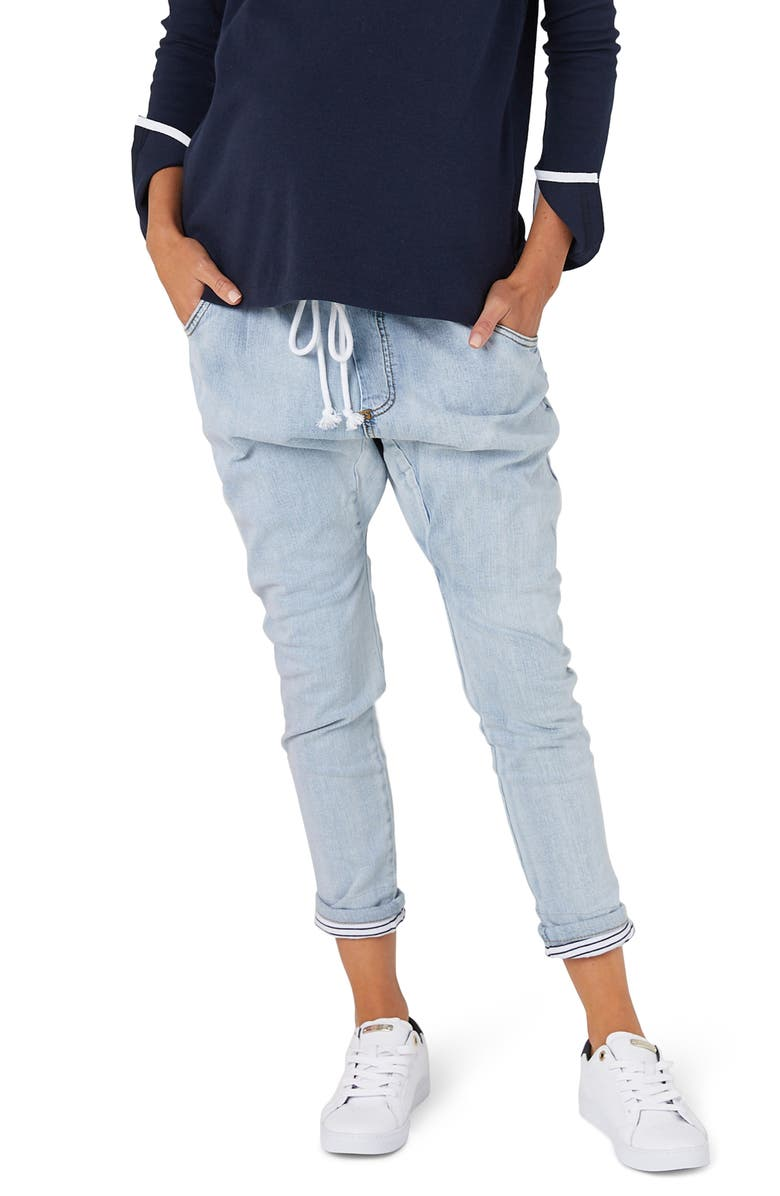 LEGOE. Oxford Denims Maternity Jeans, Main, color, SALT WASH