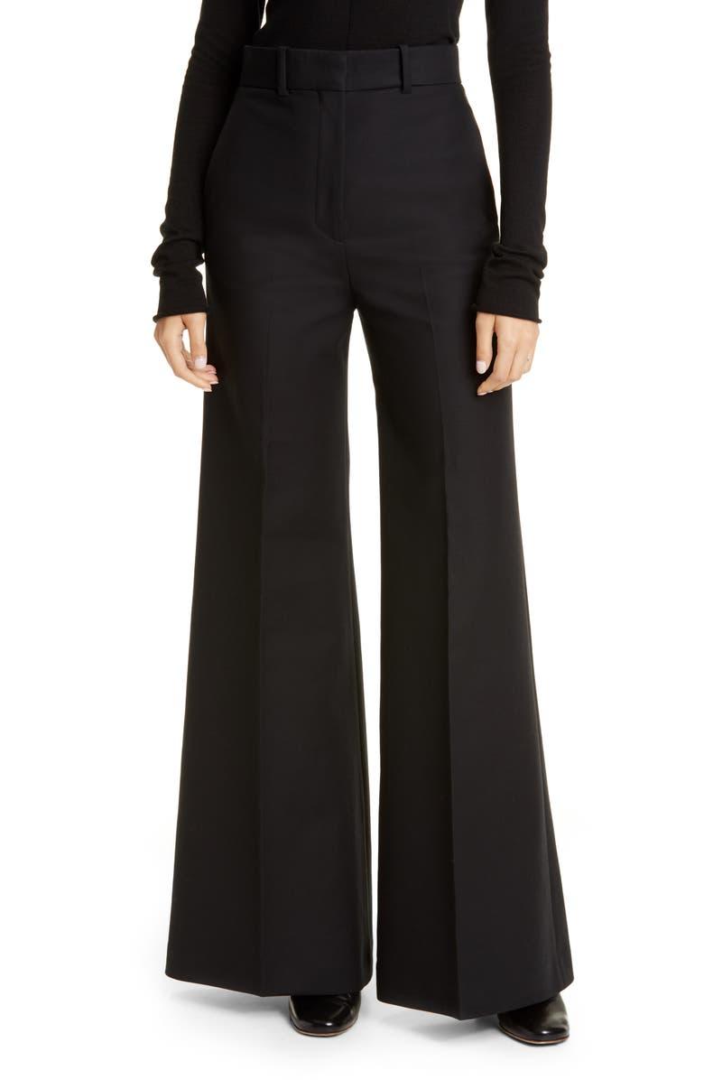 KHAITE The Bernadette Water Resistant Cotton Twill Pants, Main, color, 001