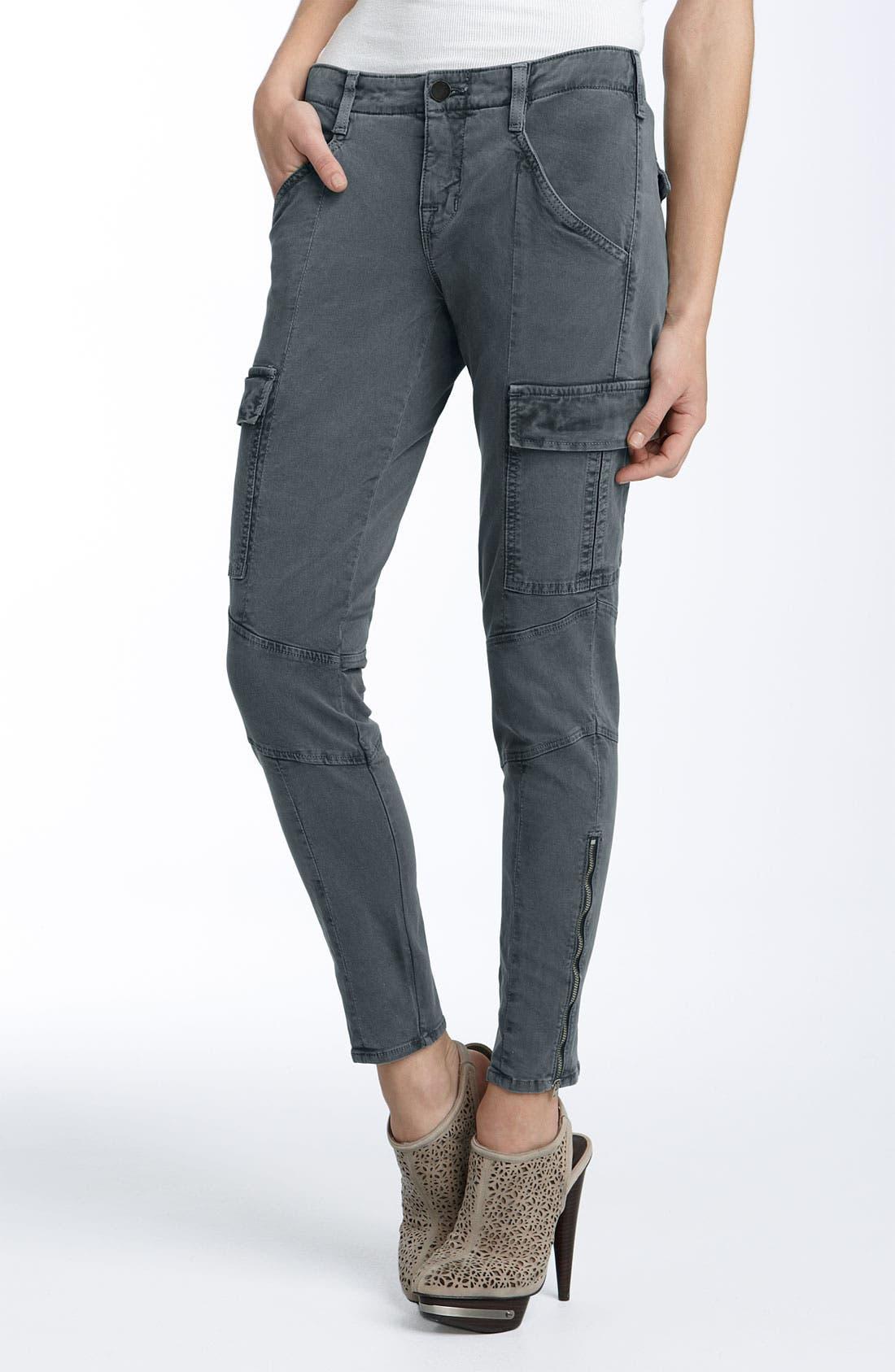 'Houlihan' Skinny Stretch Cotton Cargo Pants, Main, color, 001