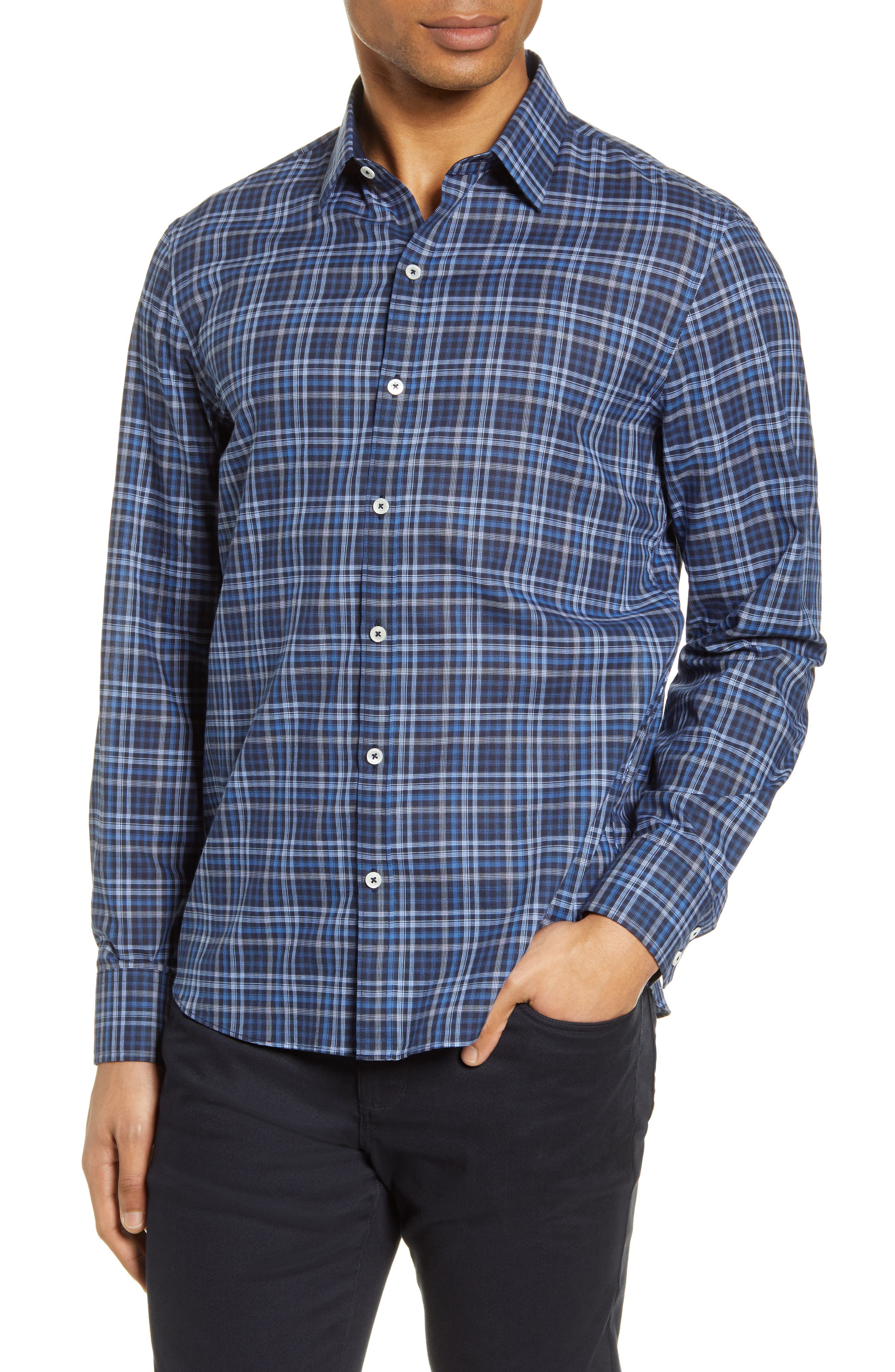 Image of Zachary Prell Plaid Button-Up Shirt