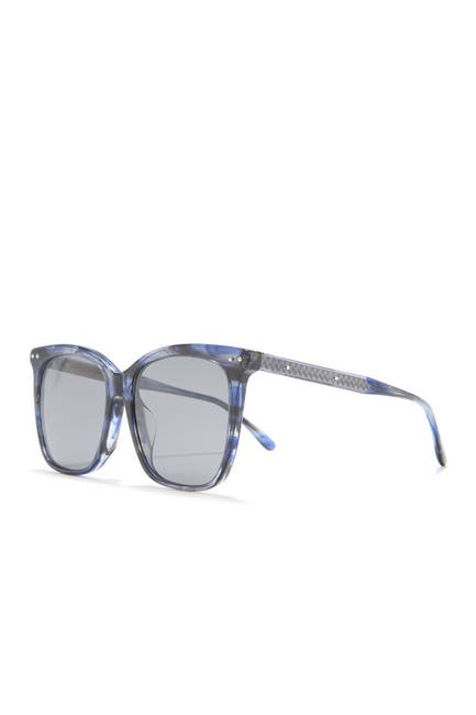 Image of Bottega Veneta 54mm Oversized Square Sunglasses