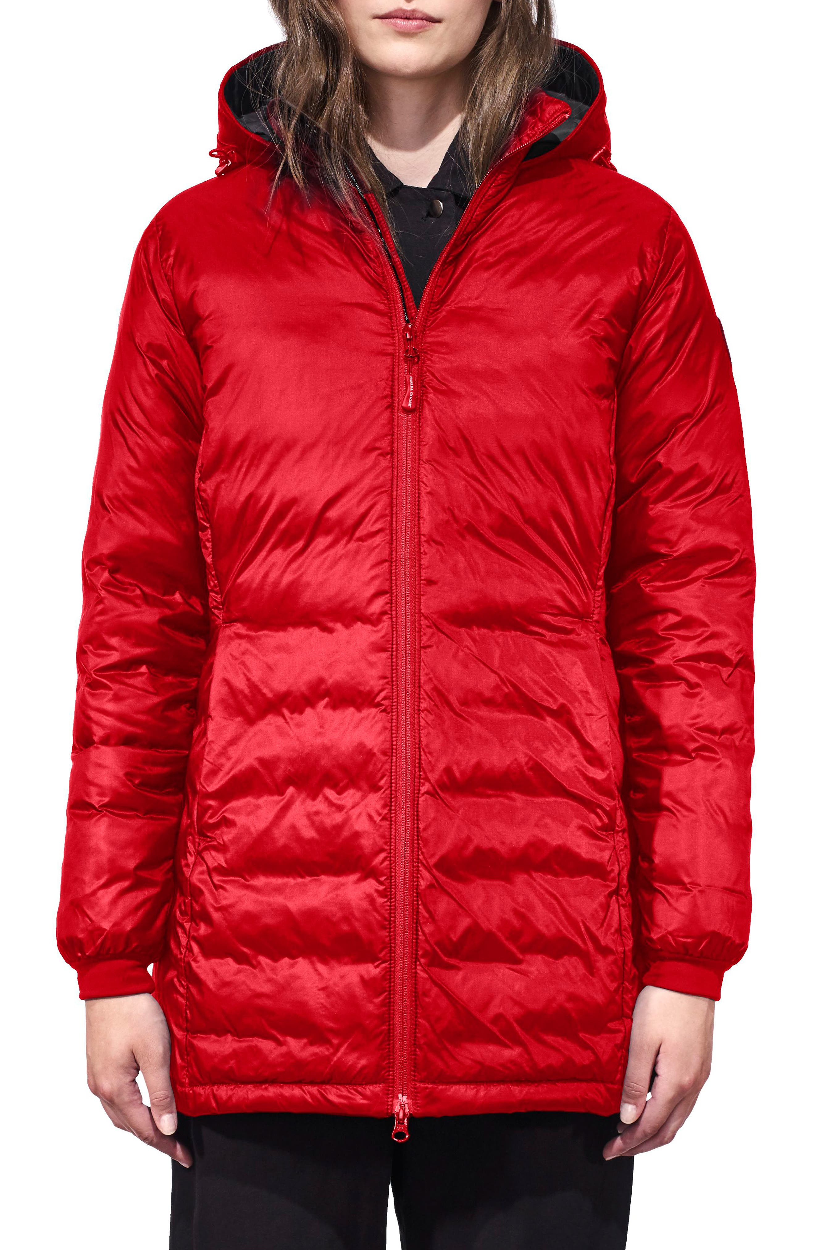 Petite Canada Goose Camp Fusion Fit Packable Down Jacket, P (000-00P) - Red