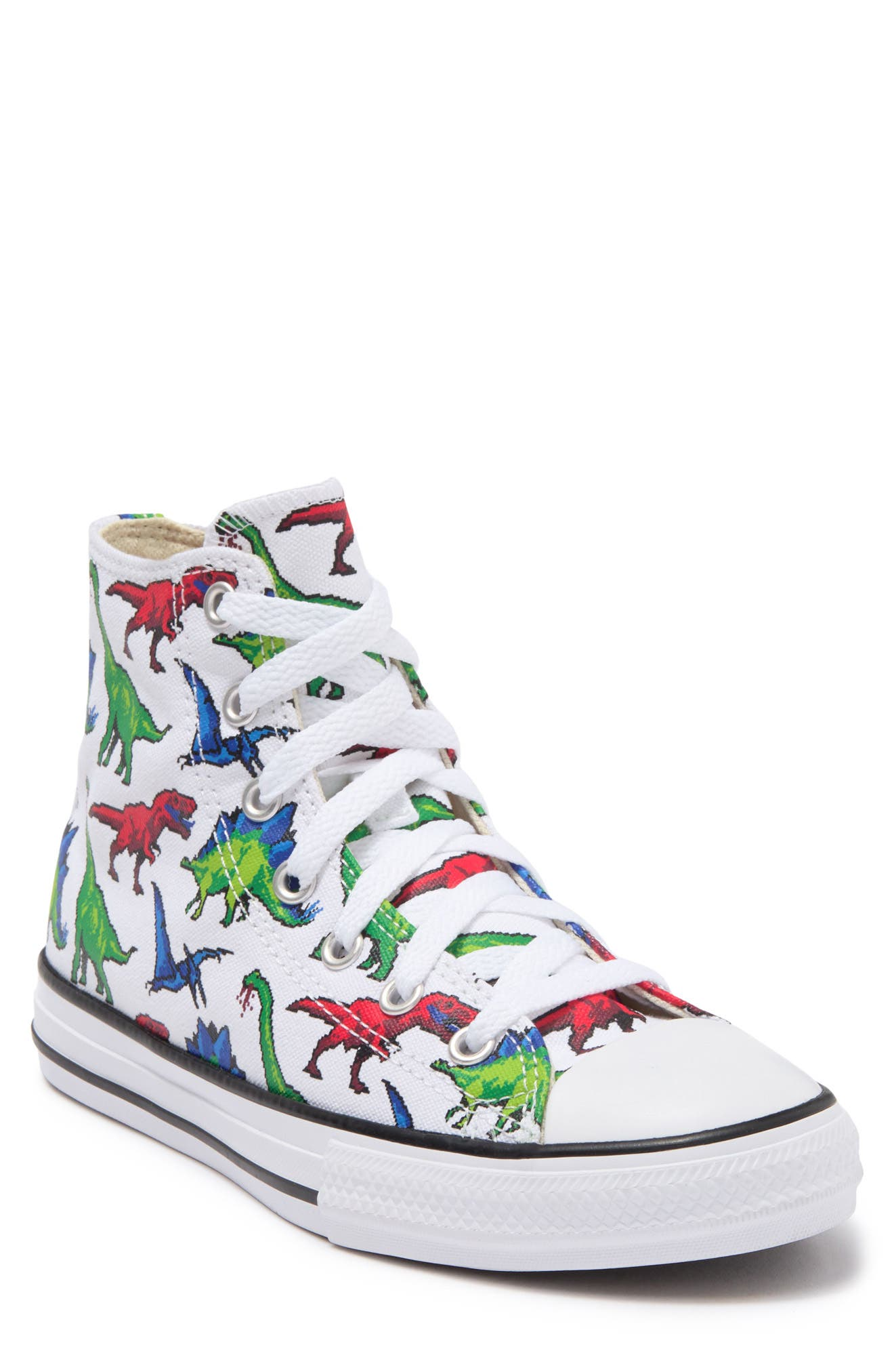 Converse Kids' Chuck Taylor All Star High-top Printed Sneaker In White/bold Wasa