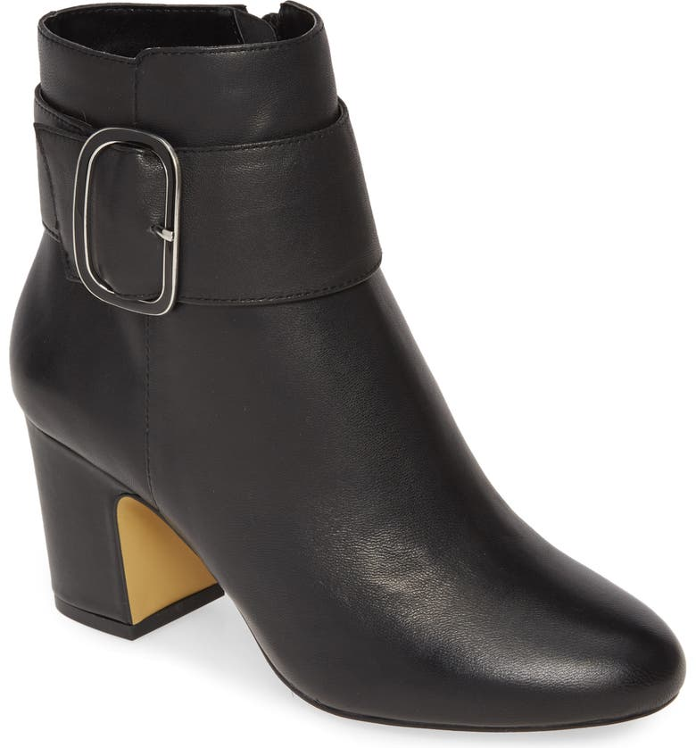 BELLA VITA Klaire Bootie, Main, color, BLACK LEATHER