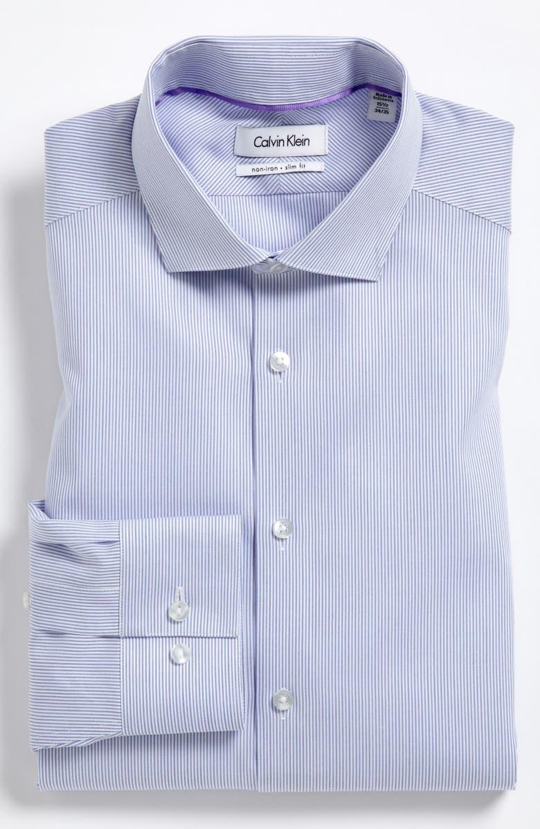 CALVIN KLEIN Slim Fit Dress Shirt, Main, color, 567