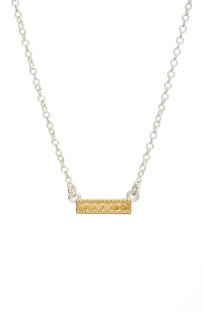 ANNA BECK Reversible Mini Bar Pendant Necklace, Main, color, 712
