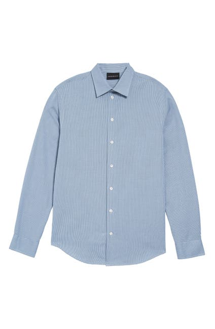 Image of Emporio Armani Slim Fit Button-Up Shirt