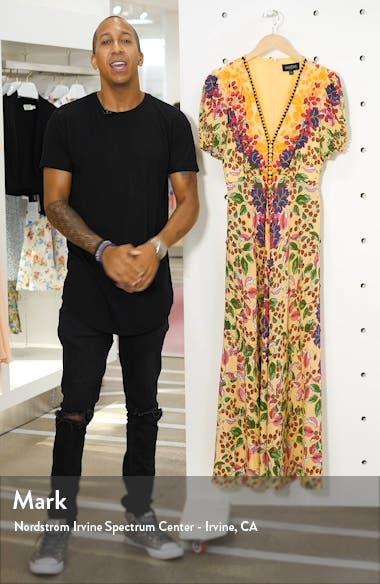 Lea Print Silk Maxi Dress, sales video thumbnail