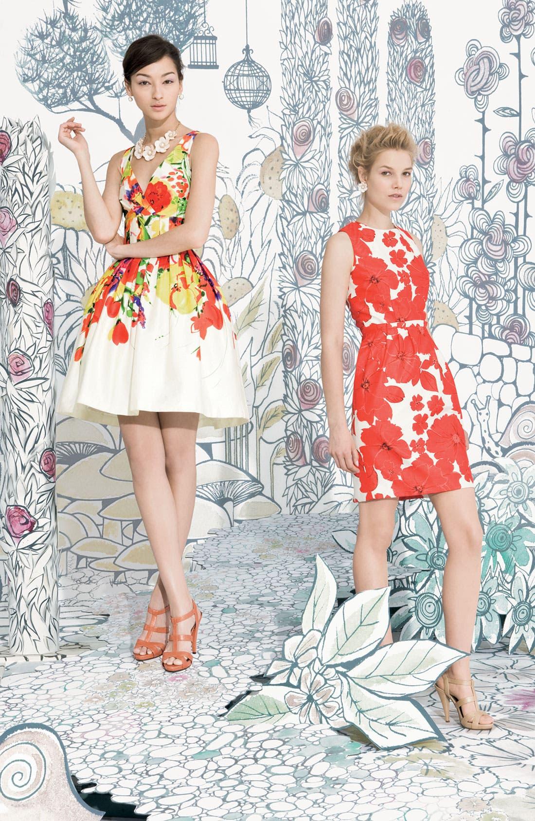 ,                             Print Sheath Dress,                             Alternate thumbnail 3, color,                             630