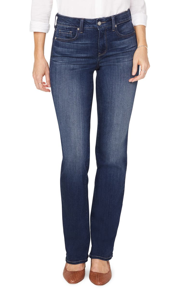 NYDJ Marilyn Stretch Straight Leg Jeans, Main, color, SAINT VERAN
