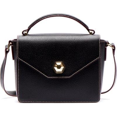 Frances Valentine Mini Midge Leather Satchel - Black