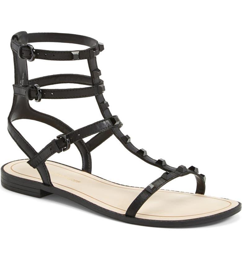 REBECCA MINKOFF 'Georgina' Studded Leather Sandal, Main, color, 001