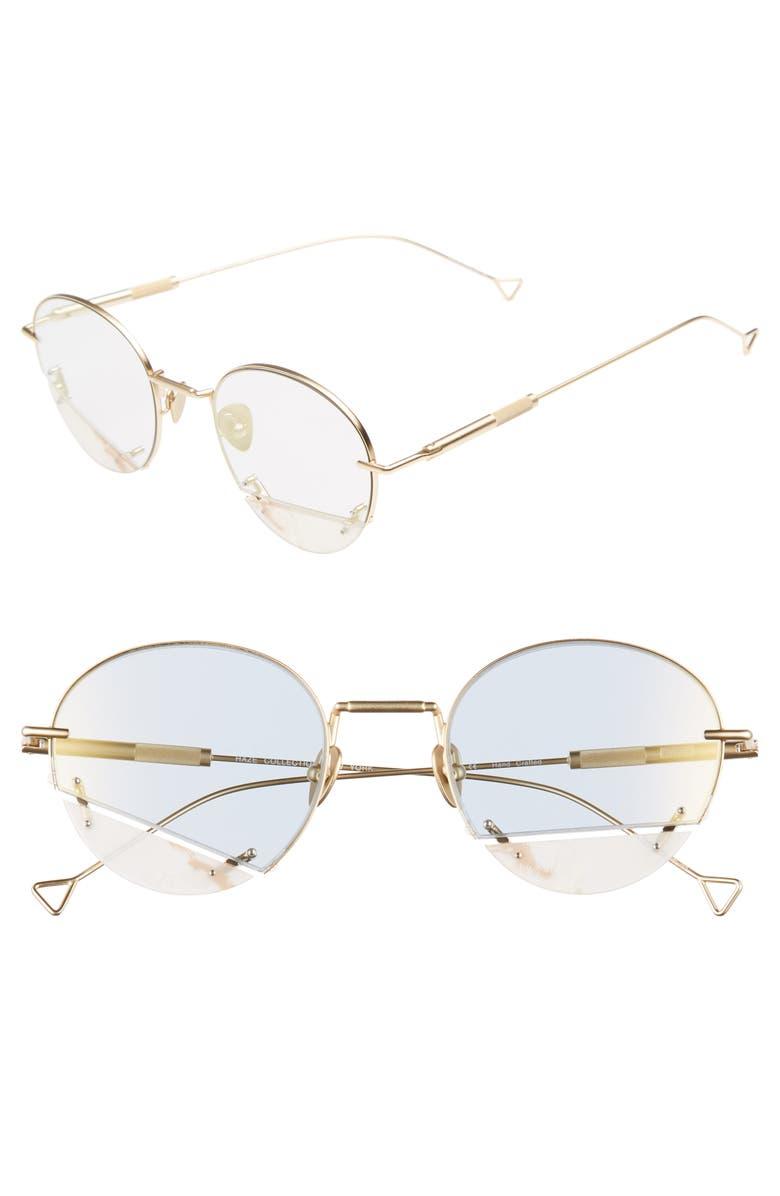 HAZE On the Corner 50mm Sunglasses, Main, color, GOLDEN NUDE