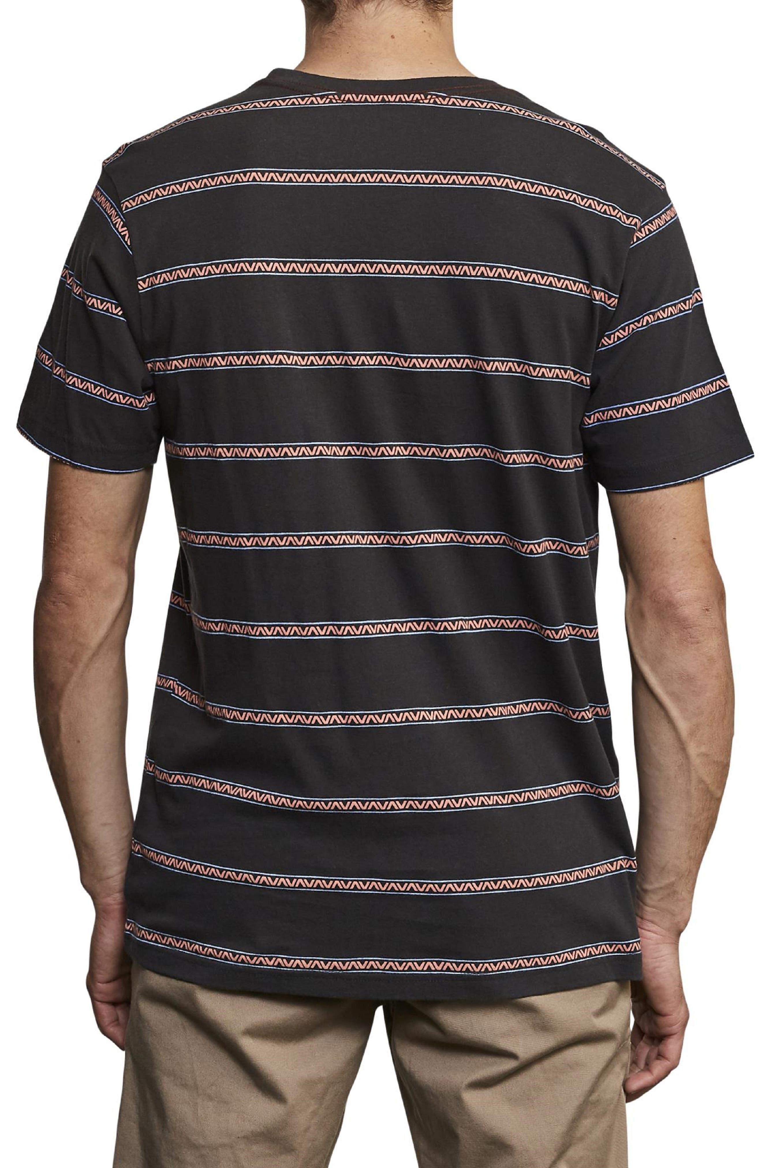 ,                             Retro VA Stripe Pocket T-Shirt,                             Alternate thumbnail 2, color,                             PIRATE BLACK