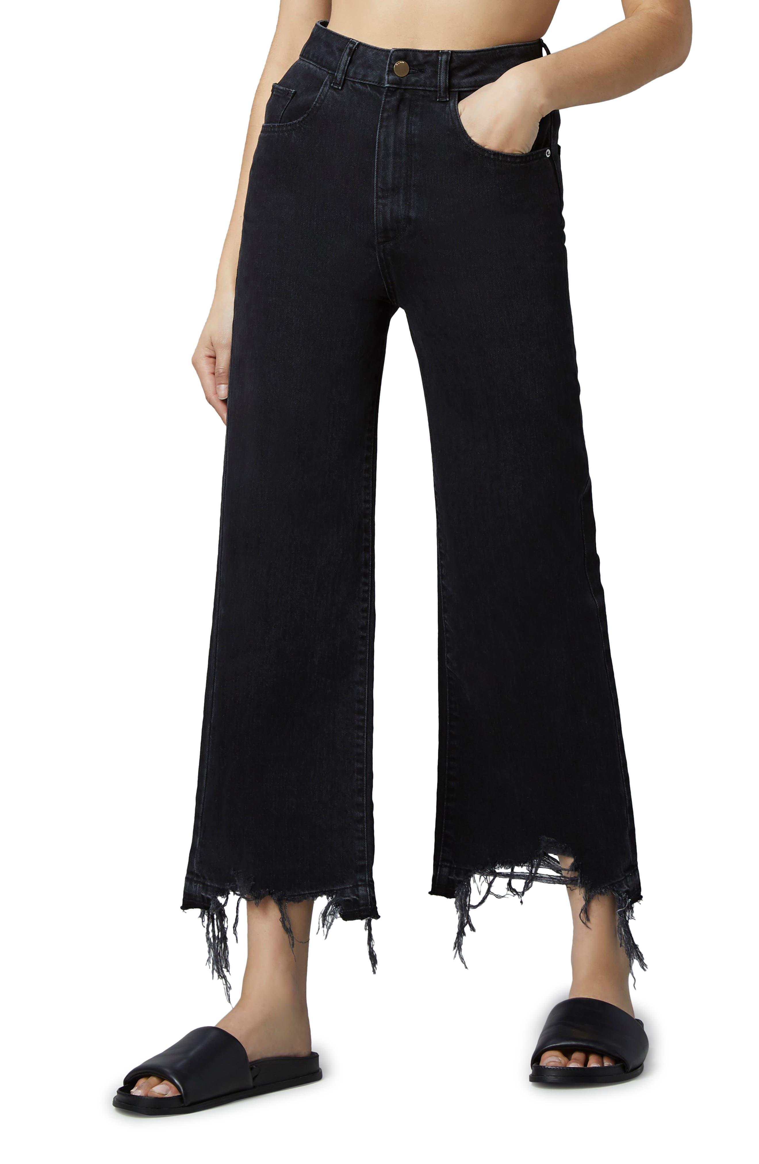 1961 Hepburn High Waist Crop Wide Leg Jeans