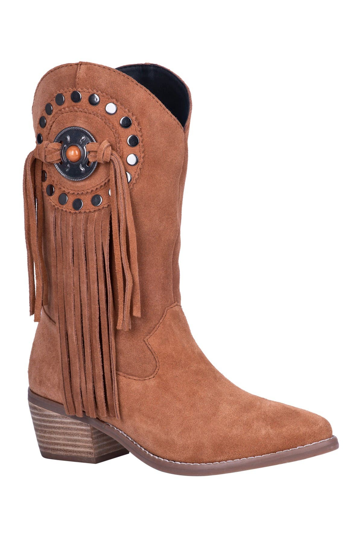 Image of DINGO Takin' Flight Suede Fringe Boot