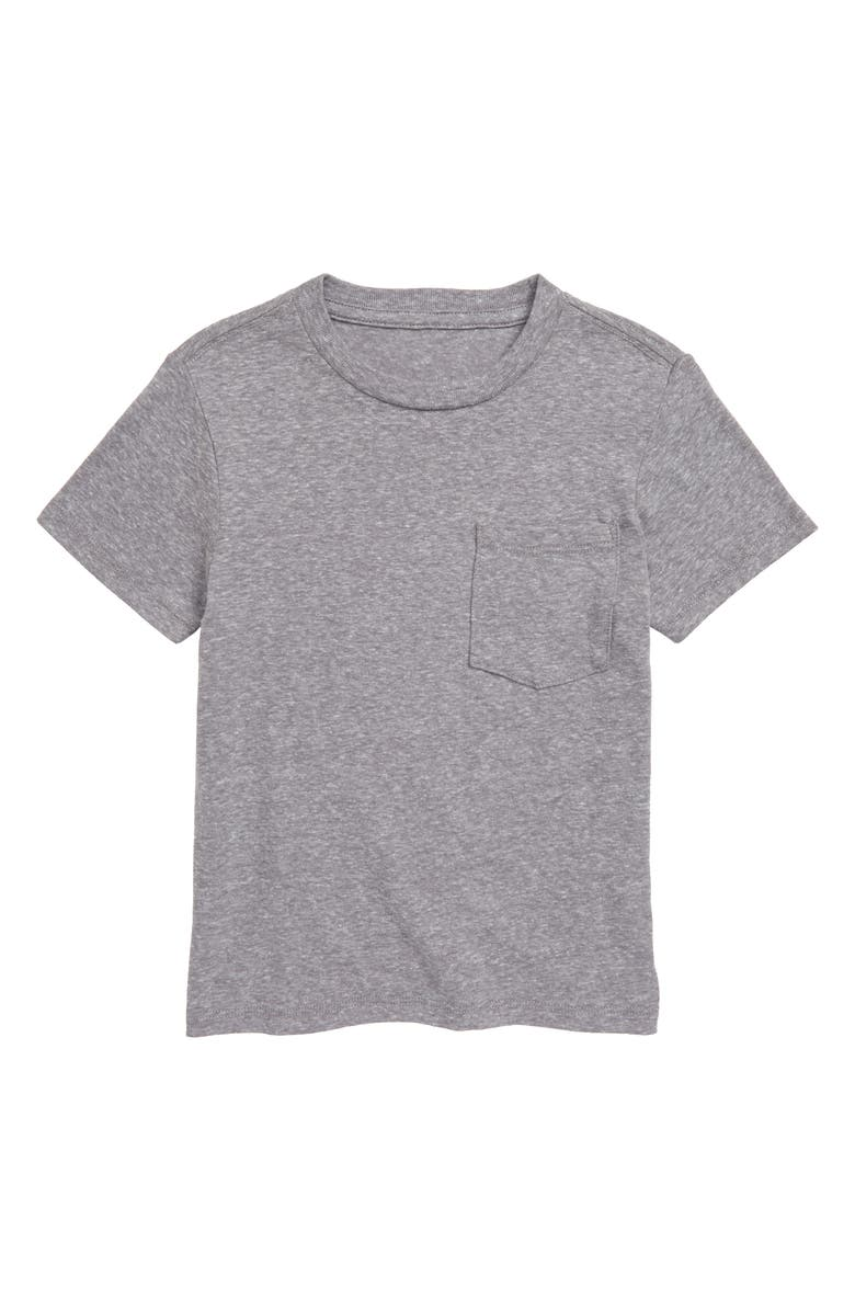 TUCKER + TATE Essential Pocket T-Shirt, Main, color, GREY MEDIUM HEATHER