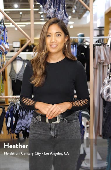 High Waist Slim FIt Crop Jeans, sales video thumbnail