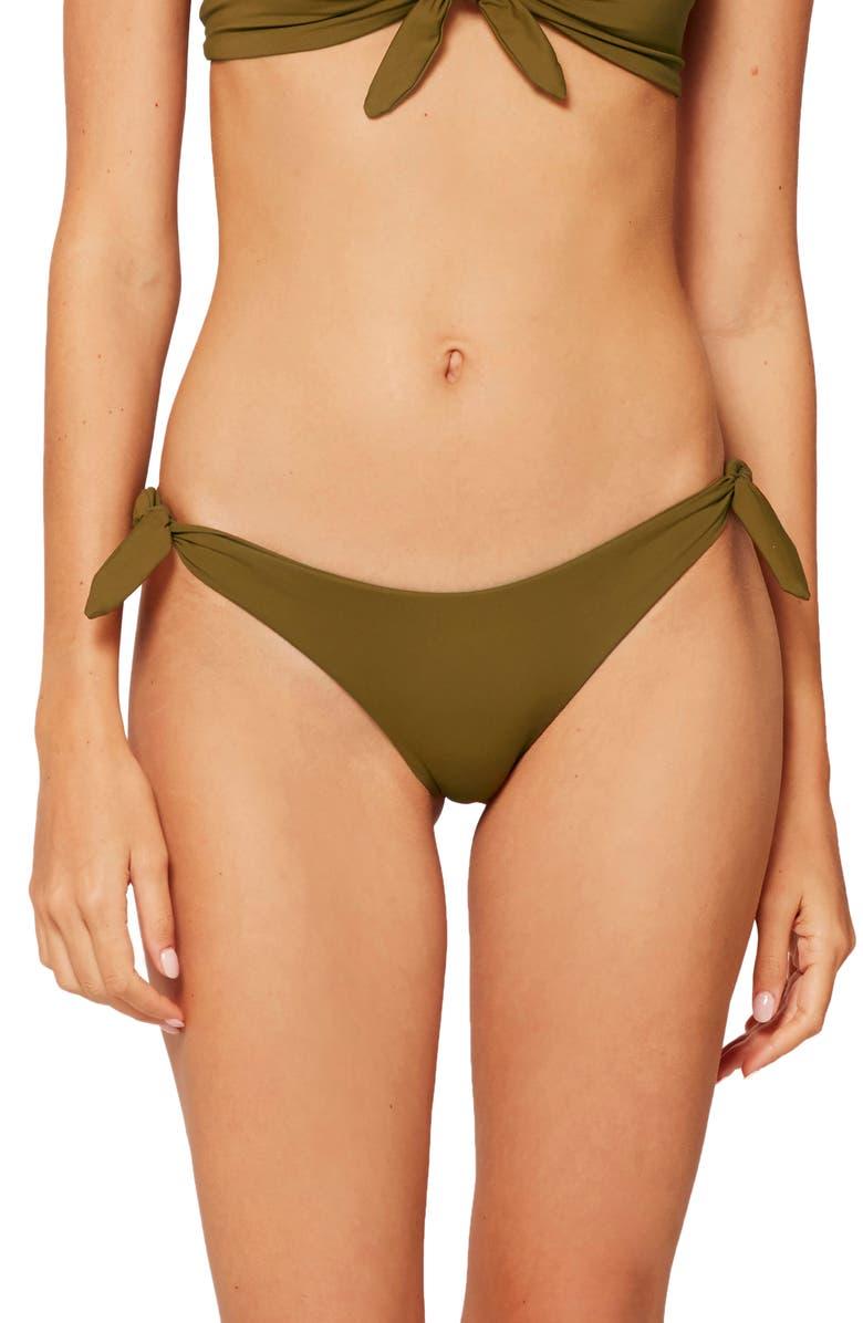 L SPACE Caruso Side Tie Bikini Bottoms, Main, color, MOSS