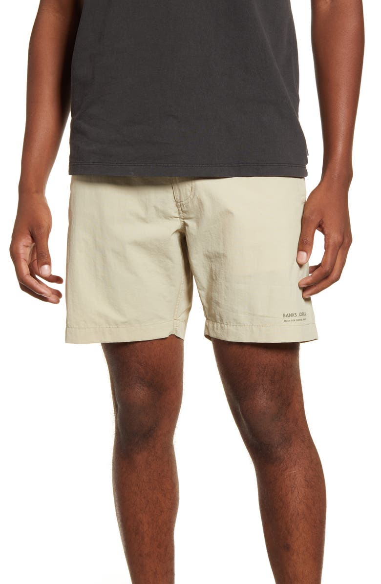 BANKS JOURNAL Distribute Walking Shorts, Main, color, DESERT