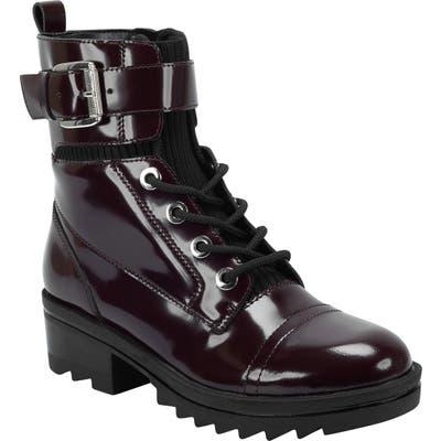 Marc Fisher Ltd Bristyn Combat Boot- Red