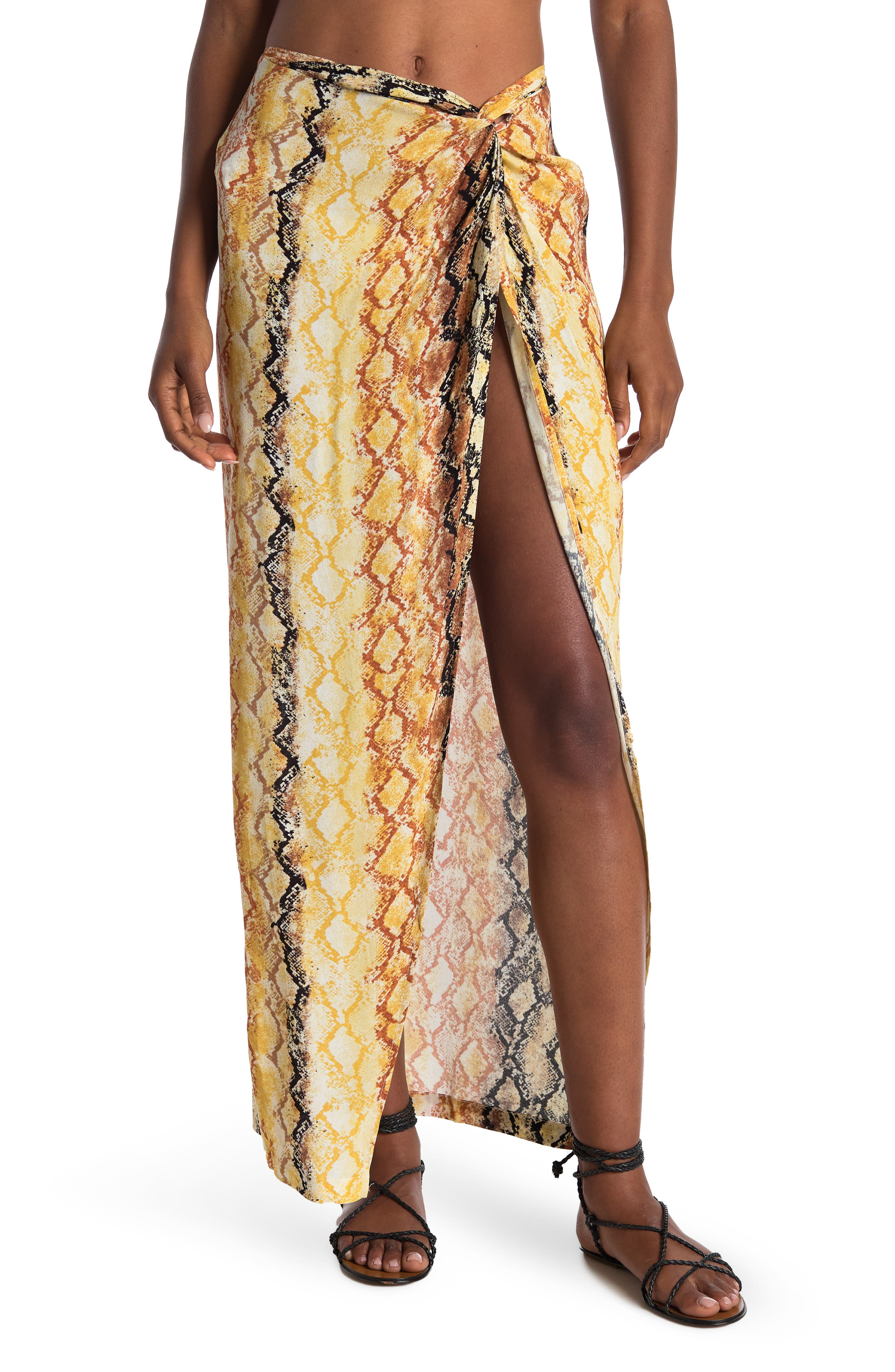 Women's L Space Mia Animal Print Cover-Up Skirt