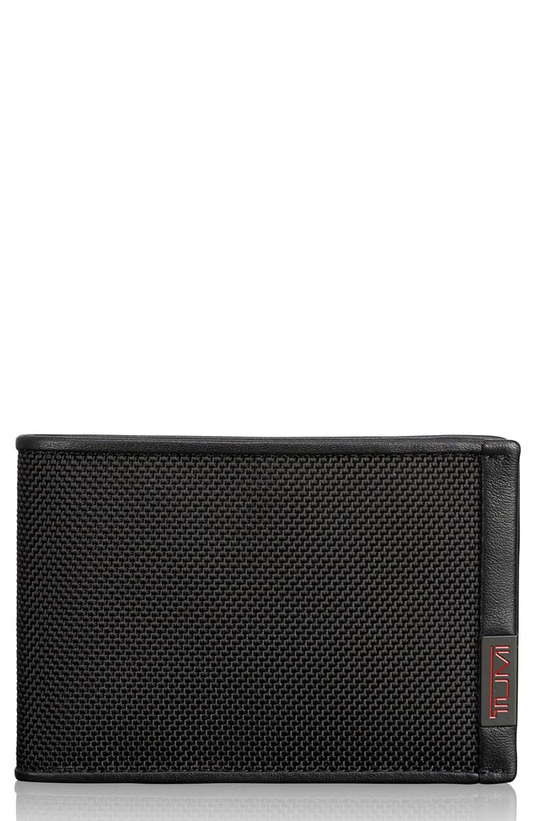 TUMI Alpha Slim Nylon Billfold, Main, color, BLACK BAL