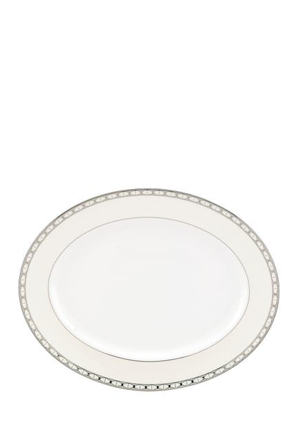 Image of kate spade new york signature spade oval platter