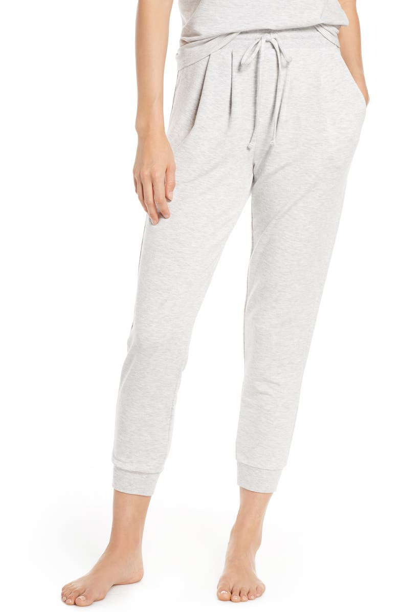 SOMETHING NAVY Jogger Pants, Main, color, GREY LIGHT HEATHER