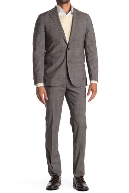 Image of Cole Haan Two Button Notched Lapel Trim Fit Suit