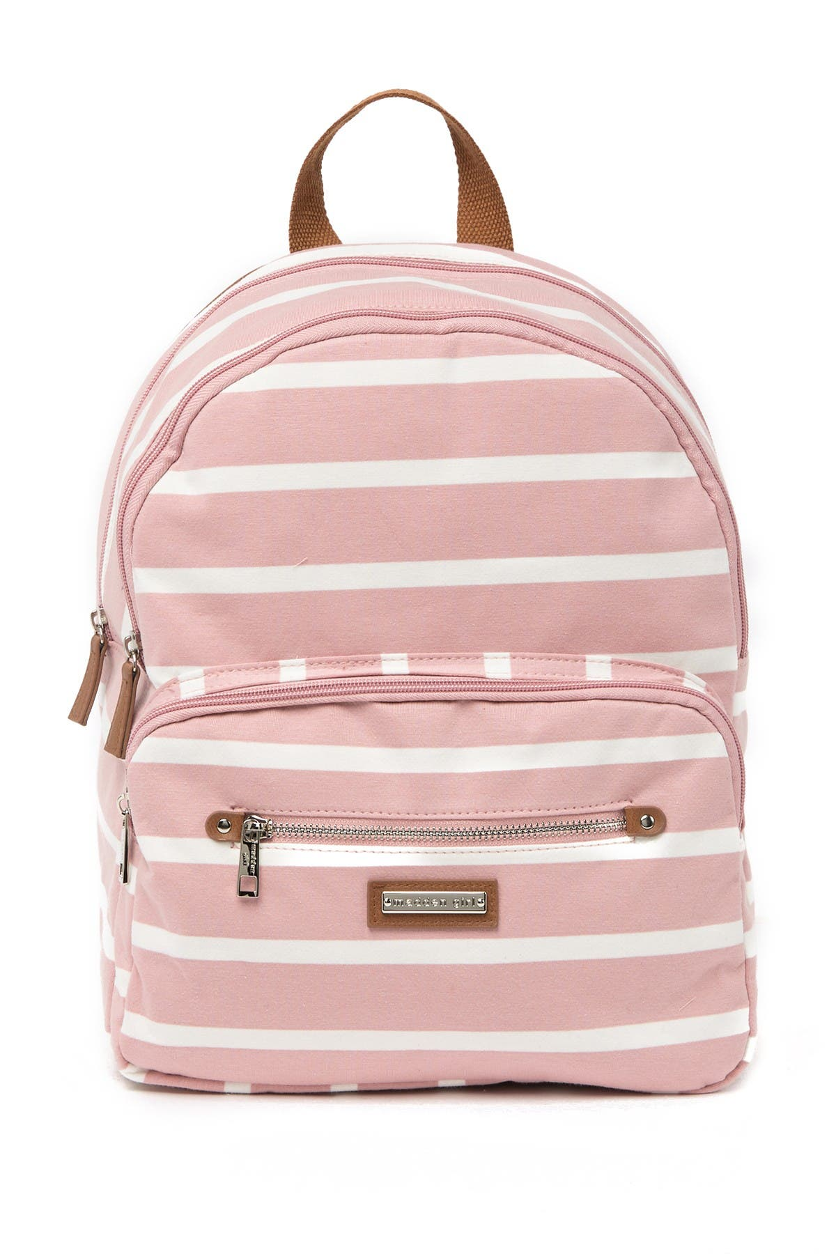 Image of Madden Girl Striped Jersey Backpack