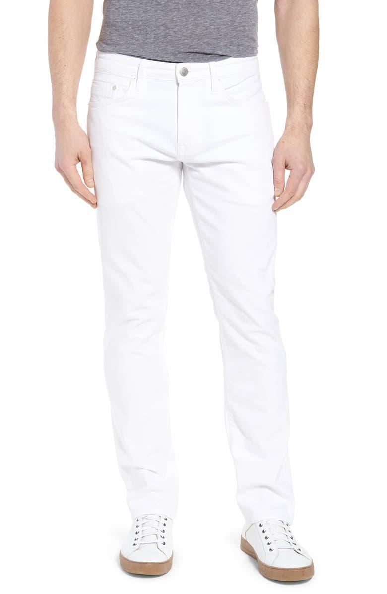 MAVI JEANS Marcus Slim Straight Leg Jeans, Main, color, WHITE WILLIAMSBURG