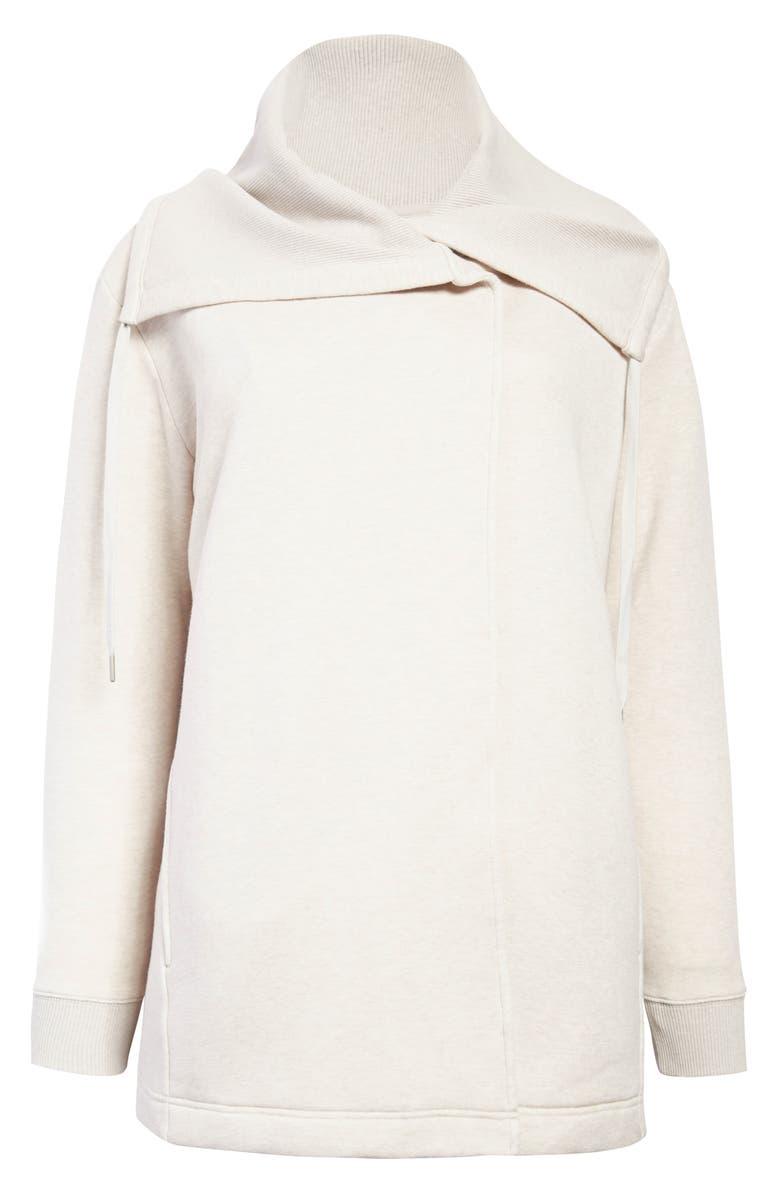 ZELLA Nola Wrap Sweatshirt, Main, color, OATMEAL SOFT HEATHER