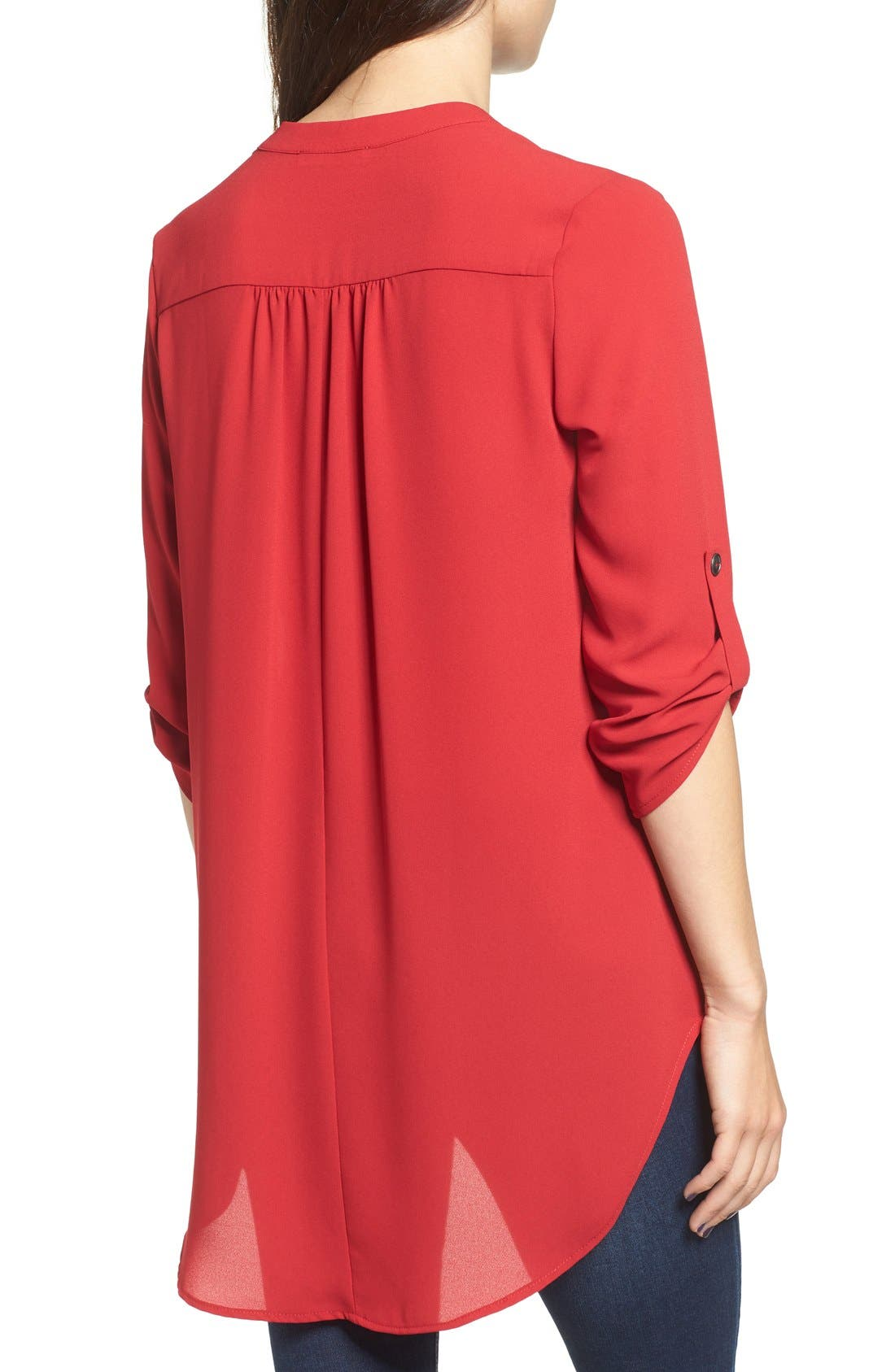 ,                             Perfect Roll Tab Sleeve Tunic,                             Alternate thumbnail 349, color,                             642