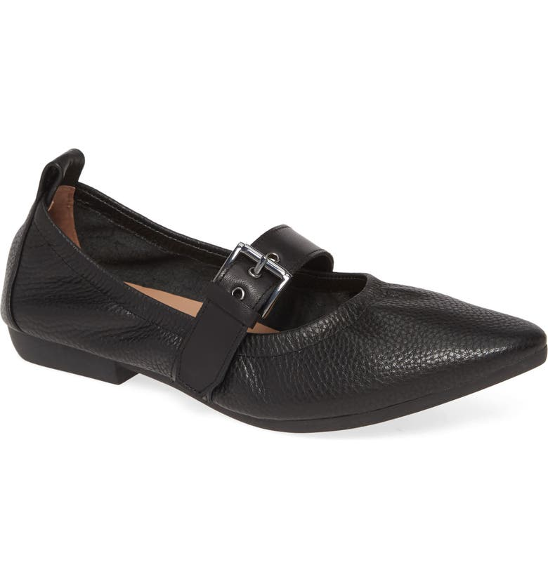 LINEA PAOLO Deisy Skimmer Flat, Main, color, BLACK LEATHER