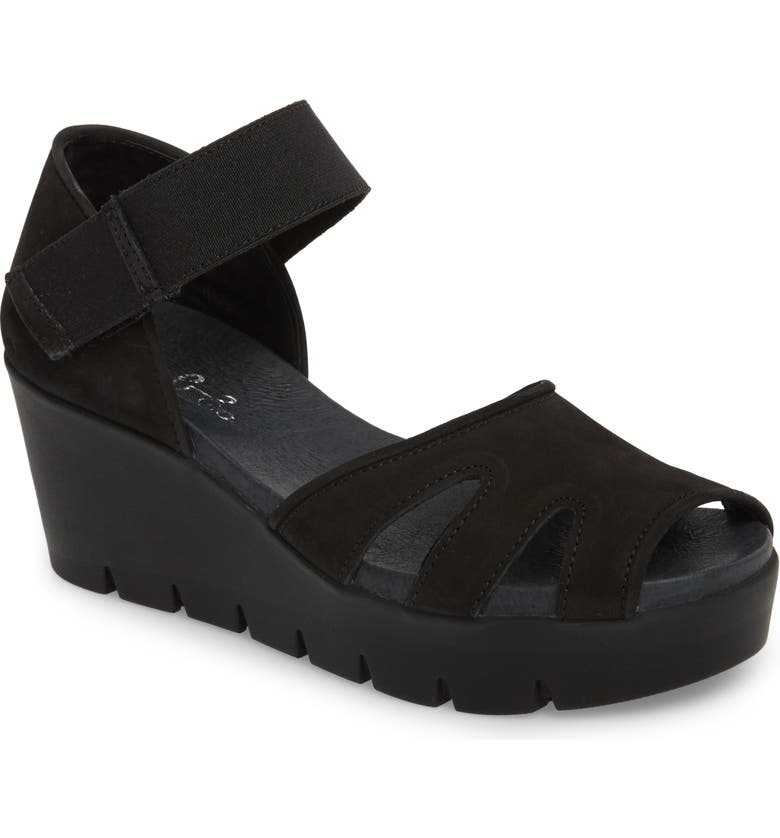 BOS. & CO. Sharon Platform Wedge Sandal, Main, color, 001