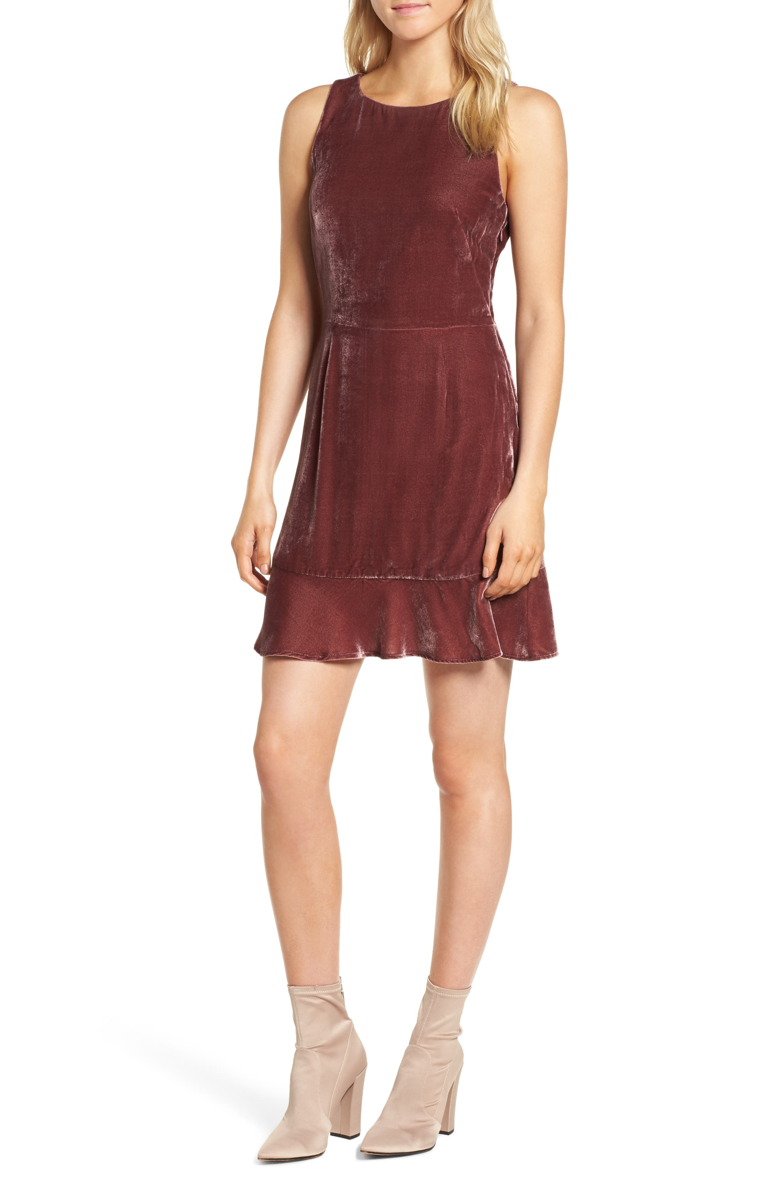 Image of Rebecca Minkoff Tiffany Ruffle Hem Sheath Dress