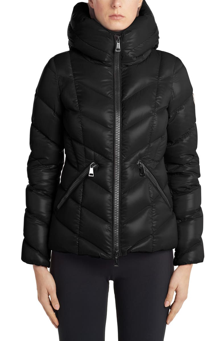 MONCLER Fulig Quilted Down Puffer Jacket, Main, color, BLACK