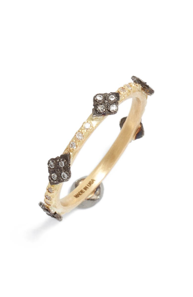 ARMENTA Old World Diamond Station Ring, Main, color, GOLD