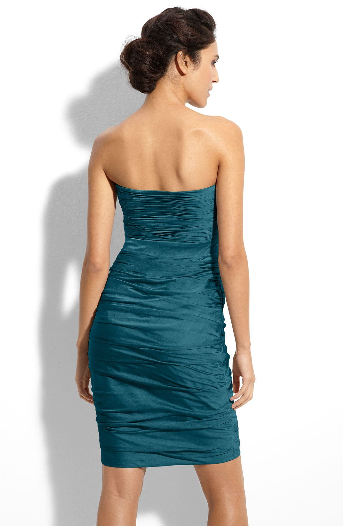 ,                             Ruched Strapless Cationic Chiffon Dress,                             Alternate thumbnail 47, color,                             440
