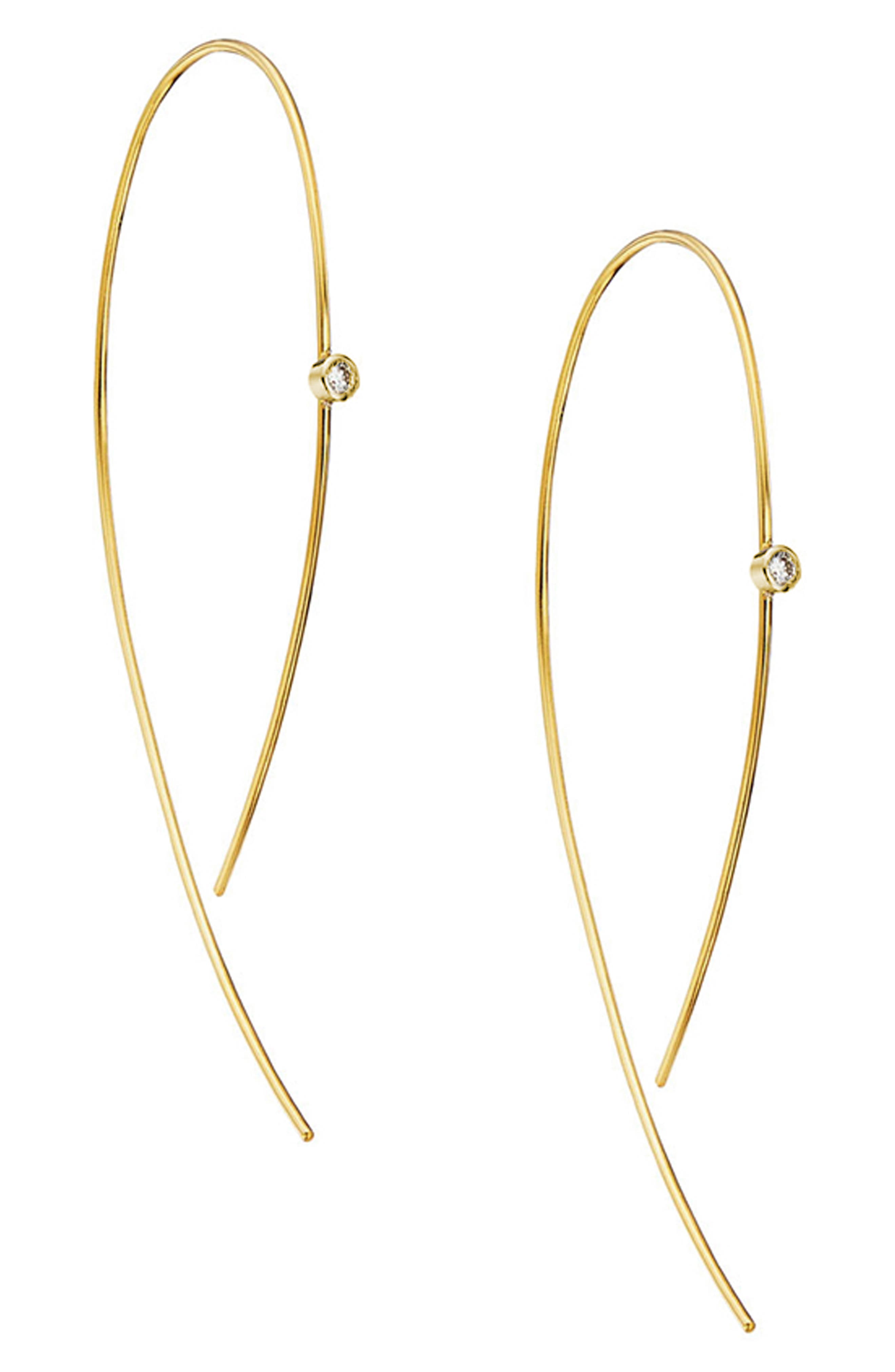 'Hooked On Hoops' Diamond Earrings