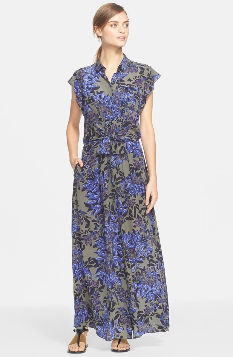 REBECCA TAYLOR 'Flame' Short Sleeve Maxi Shirtdress, Main, color, 499