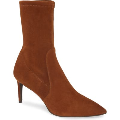 Stuart Weitzman Wren Pointy Toe Bootie- Brown