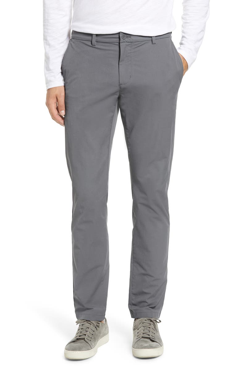 VINEYARD VINES On the Go Slim Fit Performance Pants, Main, color, GREY HARBOR